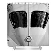1963 Chevrolet Corvette Split Window -399bw Shower Curtain