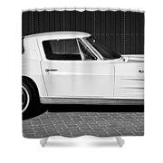 1963 Chevrolet Corvette Split Window -575bw Shower Curtain