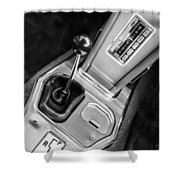 1963 Chevrolet Corvette Split Window Dash -155bw Shower Curtain