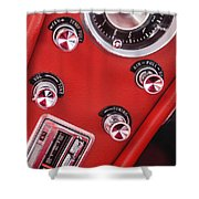 1963 Chevrolet Corvette Split Window Dash -334c Shower Curtain