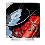 1963 Chevrolet Corvette Split Window Engine -147c Shower Curtain