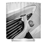1963 Chevrolet Corvette Split Window Grille -221bw Shower Curtain