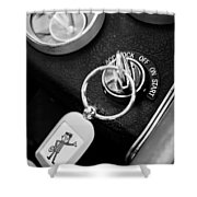 1963 Chevrolet Corvette Split Window - Mr Zip Key Ring -173bw Shower Curtain