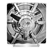 1963 Chevrolet Corvette Split Window Wheel -111bw Shower Curtain