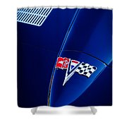 1963 Chevrolet Corvette Sting Ray Fuel Injected Split Window Coupe Hood Emblem Shower Curtain