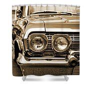 1963 Chevrolet Impala Ss In Sepia Shower Curtain