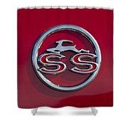 1963 Chevrolet Impala Ss Emblem Shower Curtain
