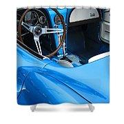 1963 Corvette Driver Approach Shower Curtain