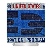 1963 Emancipation Proclamation Stamp Shower Curtain