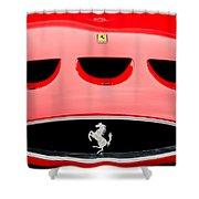 1963 Ferrari 250 Gto Grille Emblem -1753c Shower Curtain