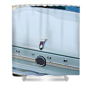 1963 Ford Falcon Futura Convertible  Rear Emblem Shower Curtain by Jill Reger