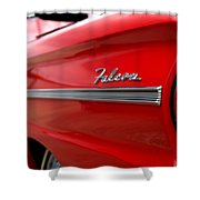 1963 Ford Falcon Name Plate Shower Curtain