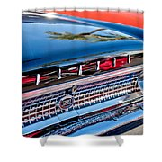 1963 Ford Galaxie 500xl Taillight Emblem Shower Curtain