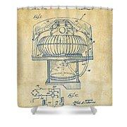 1963 Jukebox Patent Artwork - Vintage Shower Curtain