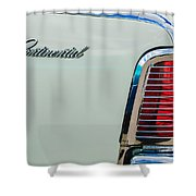 1963 Lincoln Continental Taillight Emblem -0905bw Shower Curtain