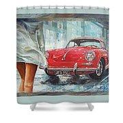 1963 Porsche 356 C Shower Curtain