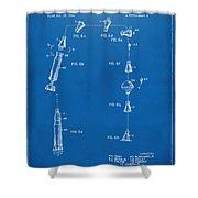 1963 Space Capsule Patent Blueprint Shower Curtain