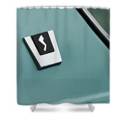 1963 Studebaker Avanti Emblem Shower Curtain