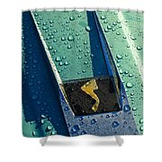 1963 Studebaker Avanti Hood Ornament Shower Curtain by Jill Reger