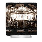 1964 Allan Herschell Carousel Shower Curtain