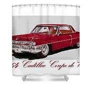 1964 Cadillac Coupe De Ville Shower Curtain