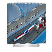 1964 Chevrolet Impala Taillights And Emblems Shower Curtain