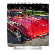 1964 Chevy Corvette Coupe  Shower Curtain