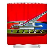 1964 Ford Falcon Emblem Shower Curtain