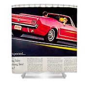 1964 - Ford Mustang Convertible - Advertisement - Color Shower Curtain