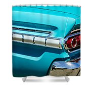 1964 Mercury Comet Taillight Emblem Shower Curtain