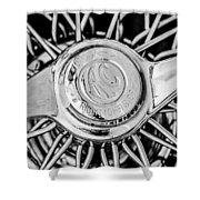 1964 Shelby 289 Cobra Wheel Emblem -0666bw Shower Curtain