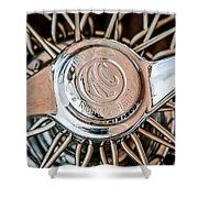 1964 Shelby 289 Cobra Wheel Emblem -0666c Shower Curtain