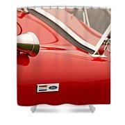 1964 Shelby Cobra 289 Street Roadster Emblem Shower Curtain