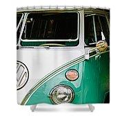 1964 Volkswagen Vw Samba 21 Window Bus Shower Curtain