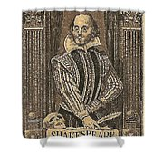 1964 William Shakespeare Postage Stamp Shower Curtain