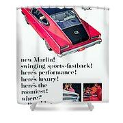 1965 - Rambler Marlin - Automobile Advertisement - Color Shower Curtain