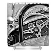 1965 Ac Cobra Steering Wheel Shower Curtain