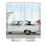 1965 Barracuda  Classic Plymouth Muscle Car Shower Curtain