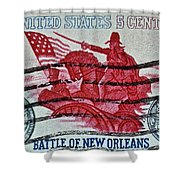 1965 Battle Of New Orleans Stamp Shower Curtain