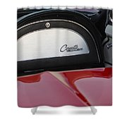 1965 Chevrolet Corvette Dashboard Emblem Shower Curtain