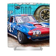 1965 Corvette Front View Shower Curtain