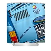 1965 Fiat Taillight Shower Curtain