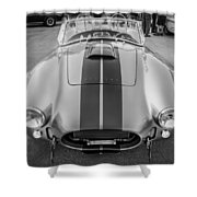 1965 Ford Ac Cobra Replica Painted Bw Shower Curtain
