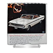 1965 Ford Falcon Ad Shower Curtain