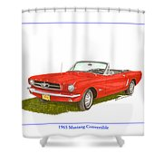 1965 Ford Mustang Convertible Pony Car Shower Curtain