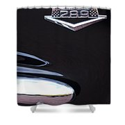 1965 Ford Mustang Gt 289 Emblem -0309c Shower Curtain