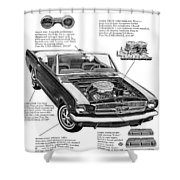 1965 Ford Mustang Performance Kits Shower Curtain
