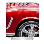 1965 Ford Mustang Really Red Shower Curtain