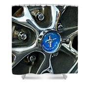 1965 Ford Mustang Wheel Rim Shower Curtain