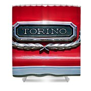 1965 Ford Torino Emblem Shower Curtain